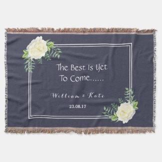 Marineblau Hochzeitstag-Wurf Decke