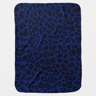 Marineblau-Leoparddruck Kinderwagendecke