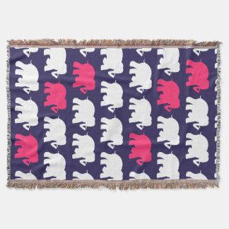 Marineblau und Decke der rosa Elefanten