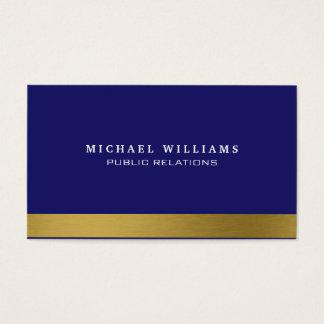 Marineblau Vergoldet Gold Caballero Klassisch Visitenkarten