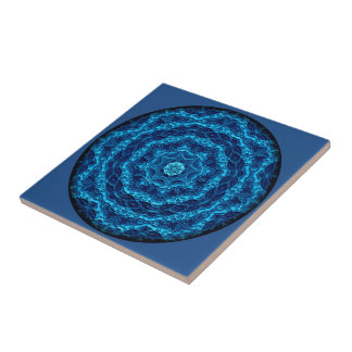 Marineschirm-Vignetten-Mandala-Fliese Kleine Quadratische Fliese