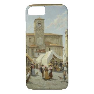Marketday in Desanzano (Öl auf Leinwand) iPhone 8/7 Hülle