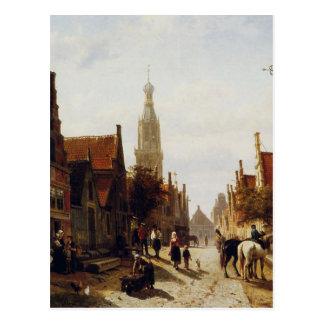 Markt Oudewater durch Cornelis-Springer Postkarte