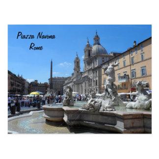 Marktplatz Navona- Rom, Italien Postkarte