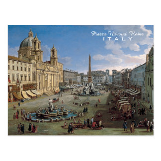 Marktplatz Navona, Rom-Kunstgewohnheitspostkarte Postkarte