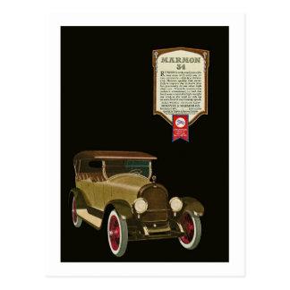 Marmon 34 - Vintage Auto-Anzeige Postkarten