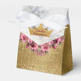 Marmor-und GoldBlumen und Geschenkschachtel