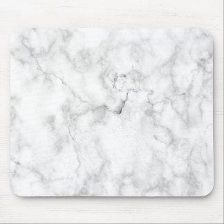 Marmorbeschaffenheit des weißen und grauen Imitats Mauspad