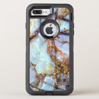 Marmorsteinmode der goldbeschaffenheits-| und OtterBox defender iPhone 7 plus hülle
