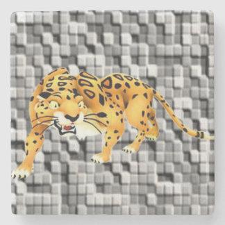 MarmorsteinUntersetzer-Leopard Steinuntersetzer