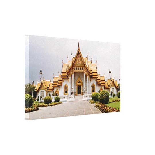 Marmortempel des Goldes über Khmer-Löwe Leinwanddruck