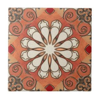 Marokkanische Erdgemusterte geometrische Keramikfliese
