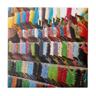 Marokkanische Schuhe Kleine Quadratische Fliese