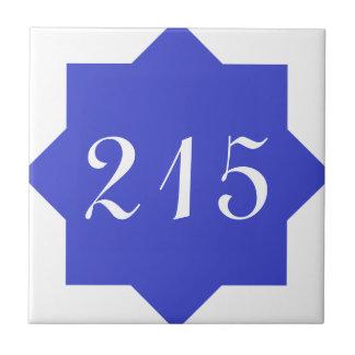 Marokkanische Stern-Blau-Zahl Keramikfliese