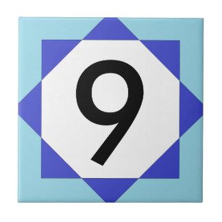 Marokkanischer Stern-blaue Hausnummer Fliese