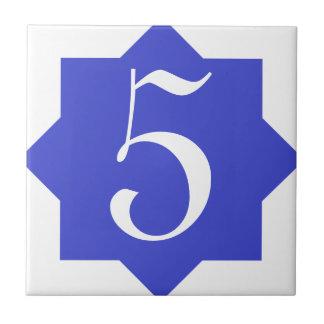 Marokkanischer Stern-blaue Hausnummer Kleine Quadratische Fliese