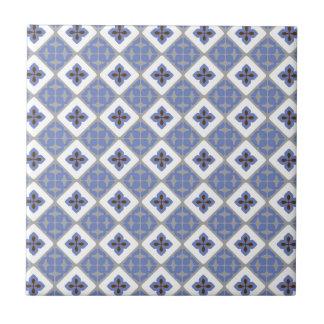 Marokkanisches Blumenfliesen-Muster lila graues Keramikfliese
