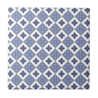 Marokkanisches Blumenfliesen-Muster lila graues Kleine Quadratische Fliese