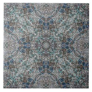 Marokkanisches edles romantisches Mandalamuster Große Quadratische Fliese