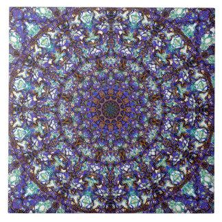 Marokkanisches romantisches farbiges Mandalamuster Große Quadratische Fliese