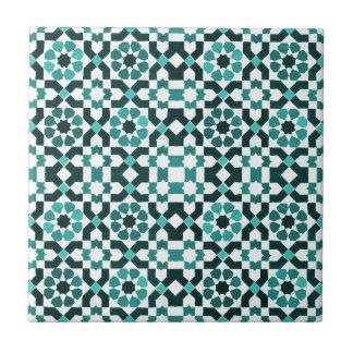 Marokkanisches Türkis-Muster Kleine Quadratische Fliese