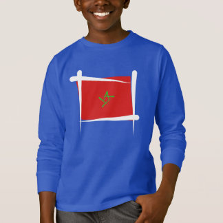 Marokko-Bürsten-Flagge T-Shirt