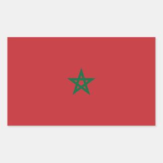 Marokko-Flagge Rechteckiger Aufkleber