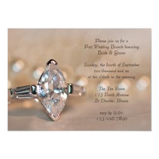 Marquis-Diamant-Ring-Posten-Hochzeits-Brunch laden 12,7 X 17,8 Cm Einladungskarte