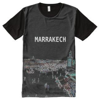 Marrakesch - Marokko ganz über Druckt-shirt T-Shirt Mit Komplett Bedruckbarer Vorderseite