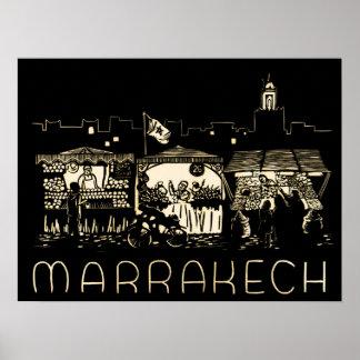 Marrakesch, Marokko, Poster
