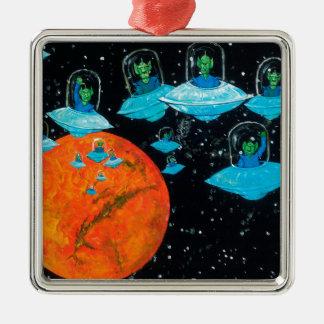 Marsmenschen sind verärgert silbernes ornament