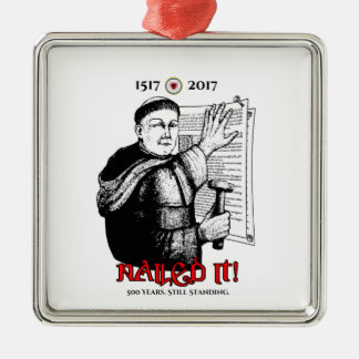 Martin Luther nagelte es! Silbernes Ornament