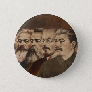 Marx, Engels, Lenin und Stalin Runder Button 5,7 Cm