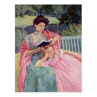 Mary Cassatt- Auguste, der zu ihrer Tochter liest Postkarte
