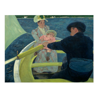 Mary Cassatt - das Bootfahrt-Party Postkarte
