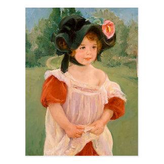 "Mary Cassatt""Frühling: Margot stehend in einem Postkarte"
