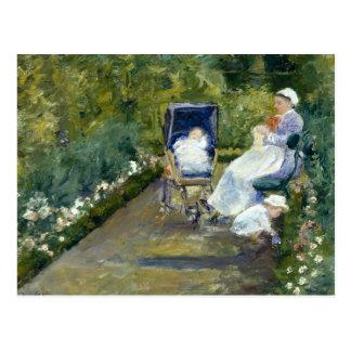 Mary Cassatt - Kinder in einem Garten Postkarte