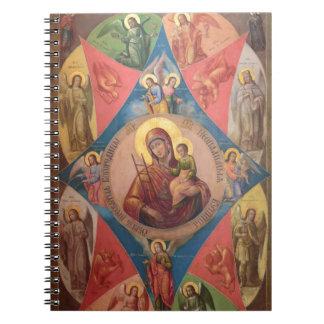 Mary, Jesus und Engel Spiral Notizblock