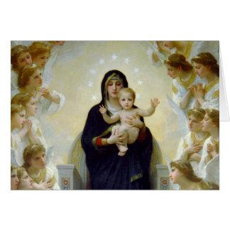 Mary mit Engeln - Regina Angelorum Karte