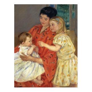 MaryCassatt- Mutter und Sara, die das Baby Postkarte