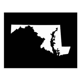 Maryland im Weiß und im Schwarzen Postkarte