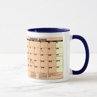 März 2012 sehen Patrotic Kalender-Tasse bitte Tasse