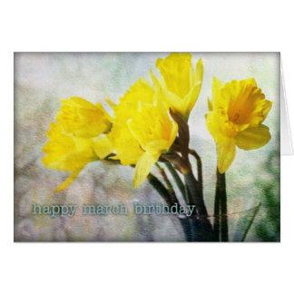 März-Geburtstags-Blumen-Narzisse #1 Mitteilungskarte