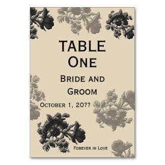 Masala Flora-Hochzeits-Tabelle Karte