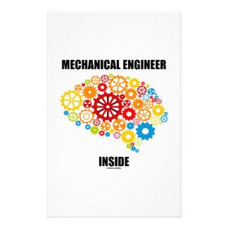 Maschinenbauingenieur-Innere (Gang-Gehirn) Druckpapiere