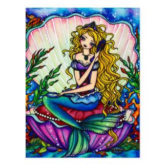 Maschinenhälften-Meerjungfrau-Fantasie-feenhafte Postkarten