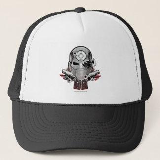 Maske der Selbstmord-Gruppen-  Deadshot u. Truckerkappe