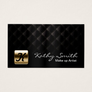 Maskenbildner-Luxusschwarzes u. Gold elegant Visitenkarten