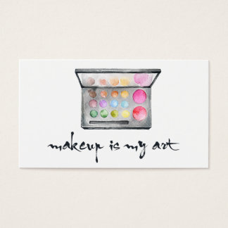 """Maskenbildner-Palette - """"Make-up ist meine Kunst-"""" Visitenkarten"""