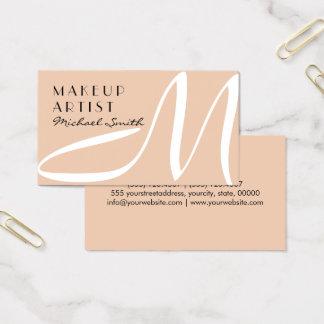 Maskenbildner-stilvolles Monogramm-moderner Visitenkarten